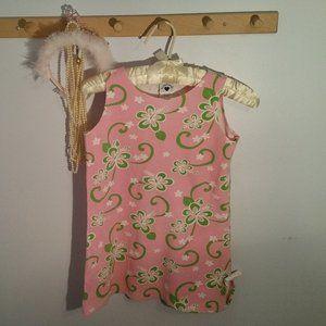 Hartstrings Size 8 Pink Green Preppy Flower Dress
